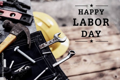 Valokuva  Happy Labor day concept and background