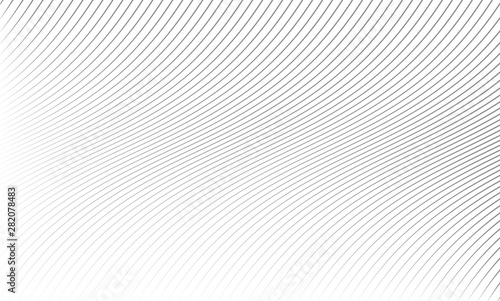Fotomural  Vector illustration of the pattern of the gray lines abstract background