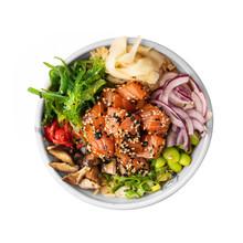 Poke Bowl With Salmon - The Traditional Hawaiian Food