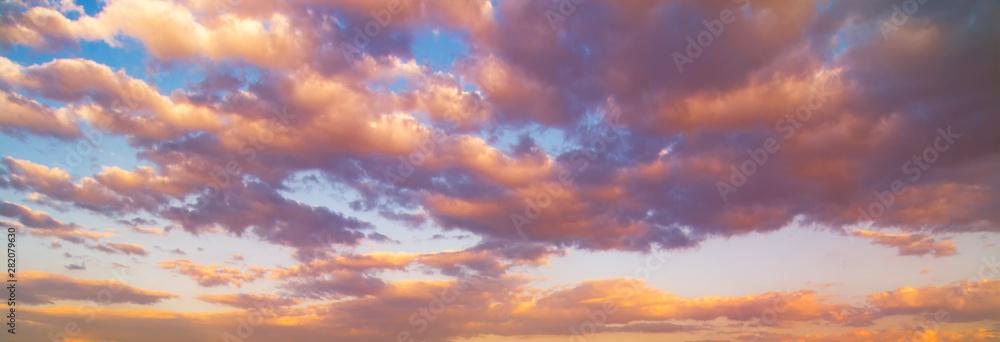 Fototapeta Beautiful sunset sky. Nature sky backgrounds.