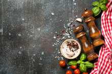 Cooking Background With Spices...