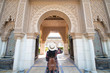 canvas print picture - Tourist is sightseeing at Morocco Pavilion in Putrajaya district in Malaysia.