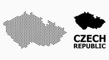 Dot Pattern Map Of Czech Repub...