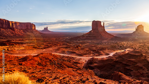 Printed kitchen splashbacks Brown Vast viewing of Monument valley
