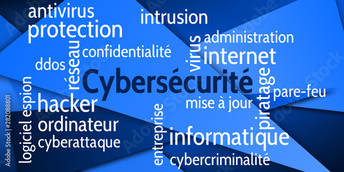 Fototapeta  Nuage de Mots Cybersécurité v6