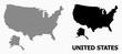 Dotted Pattern Map of USA and Alaska