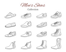 Men's Shoes Collection. Variou...