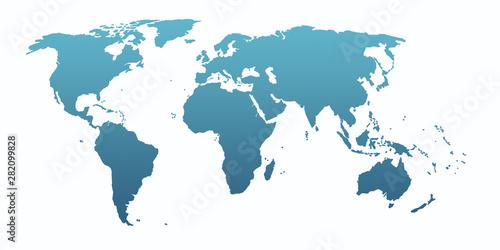blue world map Tableau sur Toile