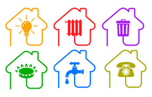 Utilities Icons In Flat Style:...
