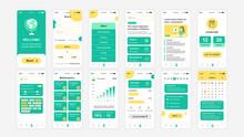 Set Of UI, UX, GUI Screens Education App Flat Design Template For Mobile Apps, Responsive Website Wireframes. Web Design UI Kit. Education Dashboard.