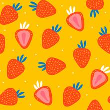 Juicy Strawberries. Hand Drawn...