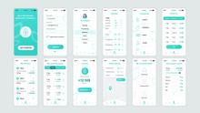 Set Of UI, UX, GUI Screens Eco...