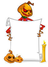 Cartoon Jack O Lantern Pumpkin...