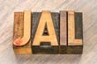 jail word in wood type