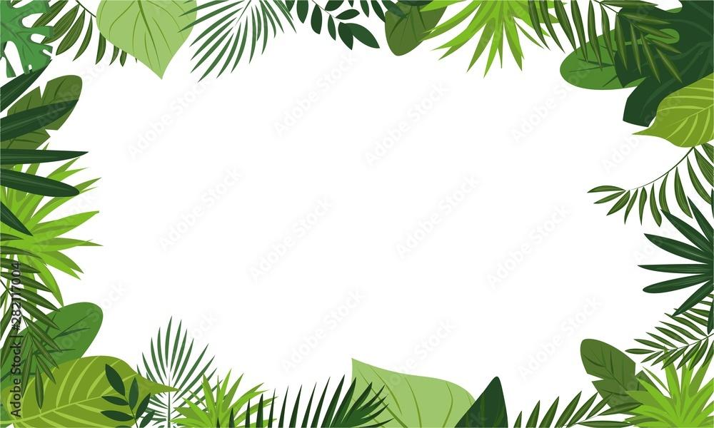 Fototapeta Fresh rainforest concept banner. Cartoon illustration of fresh rainforest vector concept banner for web design