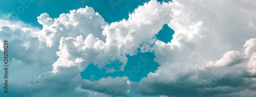 Obraz white clouds and blue sky - fototapety do salonu