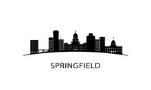 Springfield City Skyline. Blac...