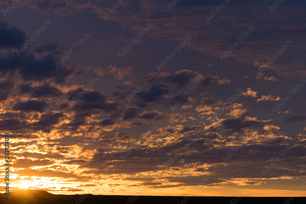 Fototapety, obrazy: sky with clouds blue golden hour