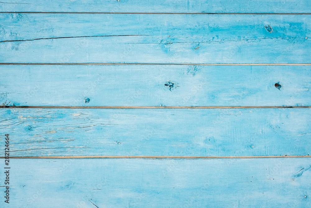 Fototapeta Blue wood texture background surface