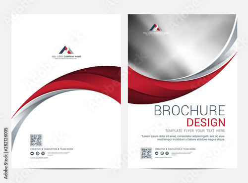 Fototapeta Brochure Layout template, Leaflet Flyer cover design background obraz