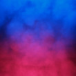 canvas print picture Blue and red abstract cloud of smoke pattern
