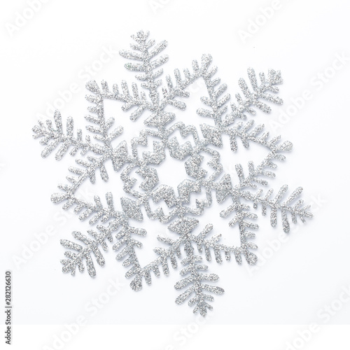 Foto auf AluDibond Boho-Stil Christmas decor closeup on a white background. Isolated - Image