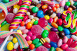 A lot of colorful candy and sweets