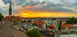 Leinwandbild Motiv Cracow, st Joseph Church from the roof, Podgorze