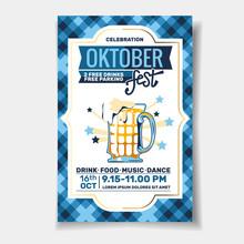 Poster Template Of Oktoberfest...