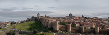 The Walls Of Ávila In Central Spain Are The City Of Avila's Principal Historic Feature.