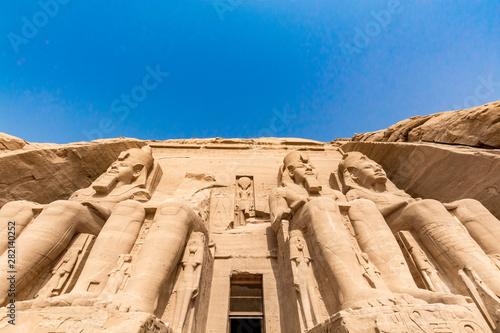 Abu Simbel temple, Egypt Fototapet