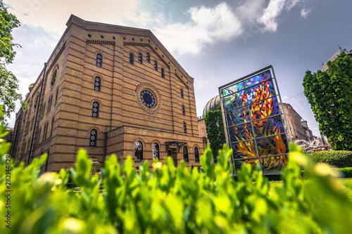 Foto auf Leinwand Budapest Budapest - June 21, 2019: The great Synagogue of Budapest, Hungary