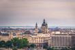Budapest - June 22, 2019: Panoramic view of the city of Budapest, Hungary
