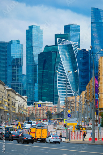 Fotografía  Moscow, Russia - June, 27, 2019: Buildings of Moscow city