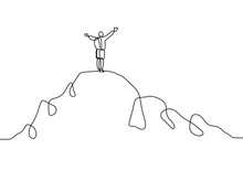 Continuous Line Drawing Of Per...