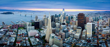 Aerial View Of San Francisco Skyline At Sunrise