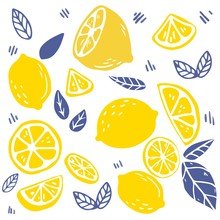 The Seamless Pattern Of Lemon ...
