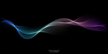 Abstract Wave Lines Pattern Dy...