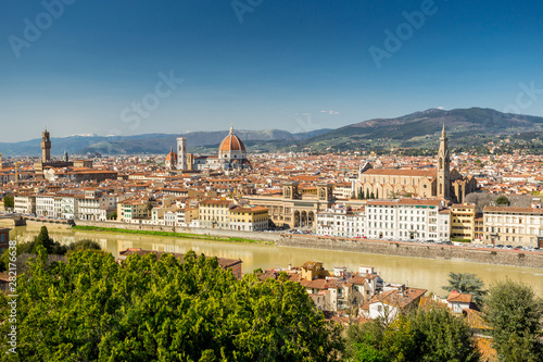 Printed kitchen splashbacks Florence Florence, Italy. Panoramic view of the city and Arno river
