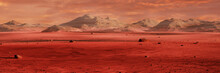 Landscape On Planet Mars, Scen...