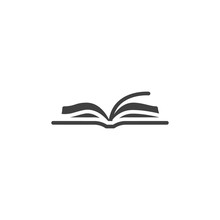 Open Book Vector Icon. Filled ...