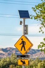 Pedestrian Crossing Sign And D...