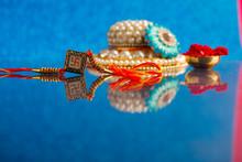 Indian Festival Raksha Bandhan , Colorful Designer Rakhi Or Wrist Band