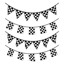 Bunting Banner Checkered Racing Flag