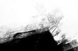 Leinwanddruck Bild - white black paint background texture with grunge brush strokes