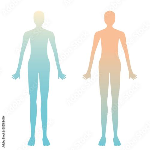 Obraz na plátně  人体の約80%が水分のイメージ 脱水症状