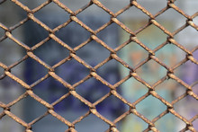 Rusty Chain Link Fence Background