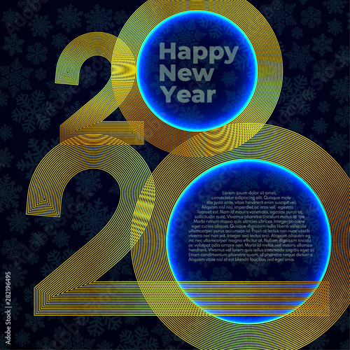 Fototapeta Gold Lines New Year 2020 Creative Element For Design Luxury Cards Invitations Party For The New Year 2020 And Christmas Modern Gold Line