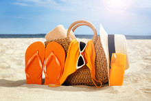 Bag With Flip-flops, Swimsuit,...