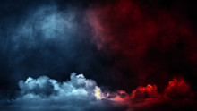 Abstract Blue And Red Smoke St...
